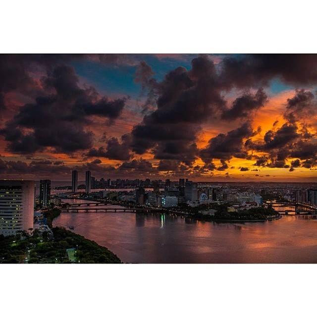 Por-do-sol em Recife