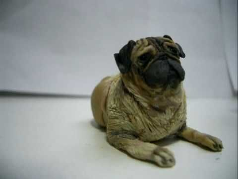 How To Make A Pug Polymer Clay Animals Doll House Pets Polymer