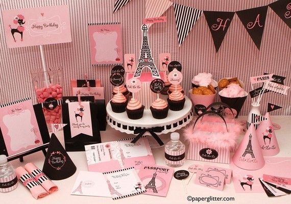 birthday paris deluxe personalized party by paperglitter on etsy