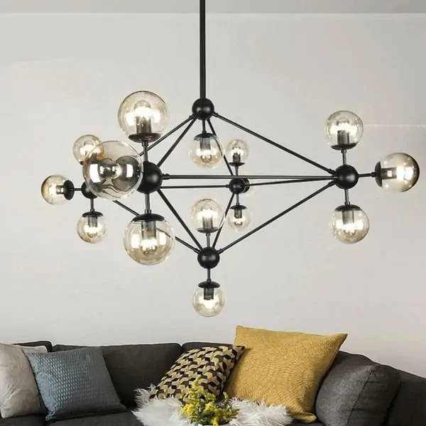 32 Epic Retro Furniture Ideas For Your Admirable Rooms In 2021 Modern Black Chandeliers Led Ceiling Lamp Led Ceiling