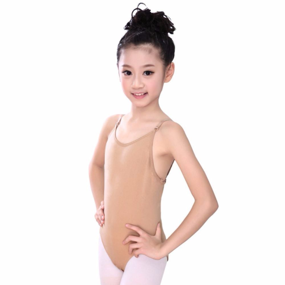 3b3e1356d7be6 Click to Buy << Children Ballet Underwear Nude Leotard Present Strap Sexy  Seamless Camisole Skin Color Gymnastics Leotard Girls Kids Dance #Affiliate
