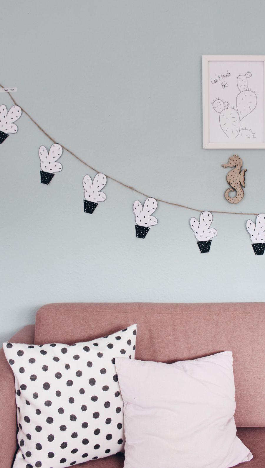 Elegant DIY Wanddeko mit gratis Vorlage zum selber Ausdrucken Es geht ganz schnell und einfach