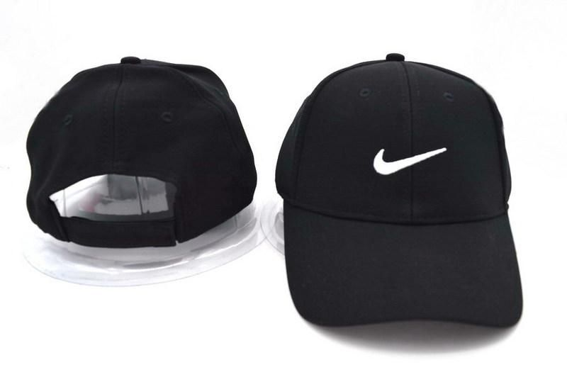 9d0c0bfb Mens Nike Stock Basic Stock Logo Embroidery Heritage Dri-Fit Retro Velcro  Back Hat Adjustable Snapback Cap - Black