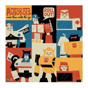 Transformers - autobots.  Looks like its done in the style of Mary Blair, if it isn't her work.