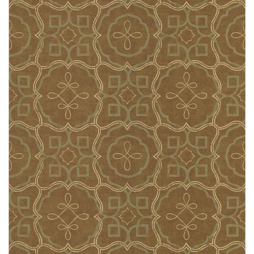 National Geographic 56 sq. ft. Spanish Tile Wallpaper 405