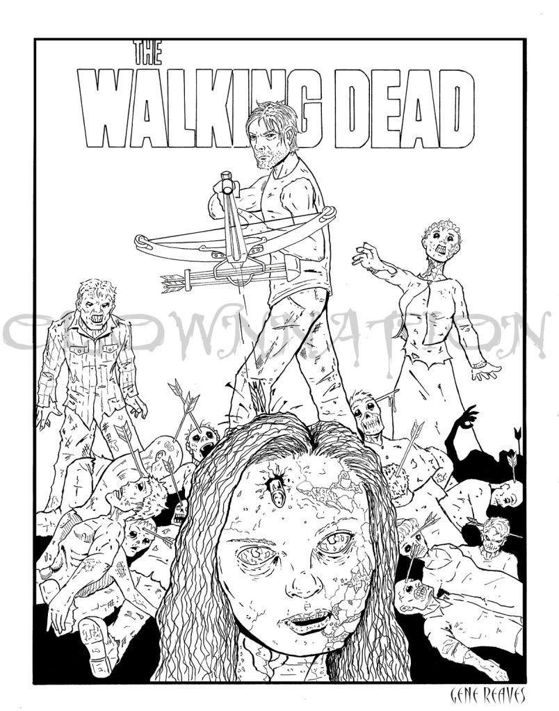 Walking Dead Printable Coloring Pages Kleurplaten