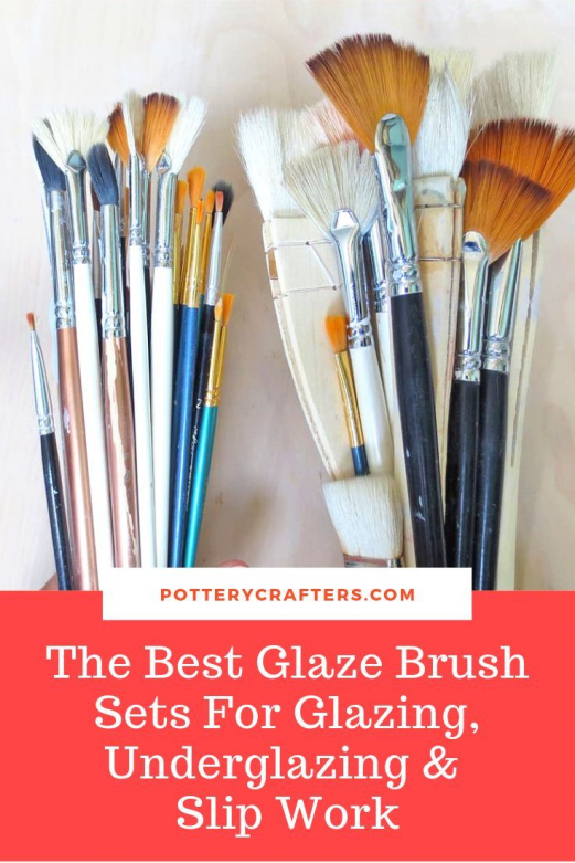 Along with the potters essential tools glaze brushes also play an important part in the making and designing of your pottery. We have gathered a list of the best glaze brush sets under $18. These brushes work well for glazing underglazing and even slip work. #pottery #glazing #ceramics #potterytools #brushes #diypottery #potterytips #diypottery #diy #pottery #making