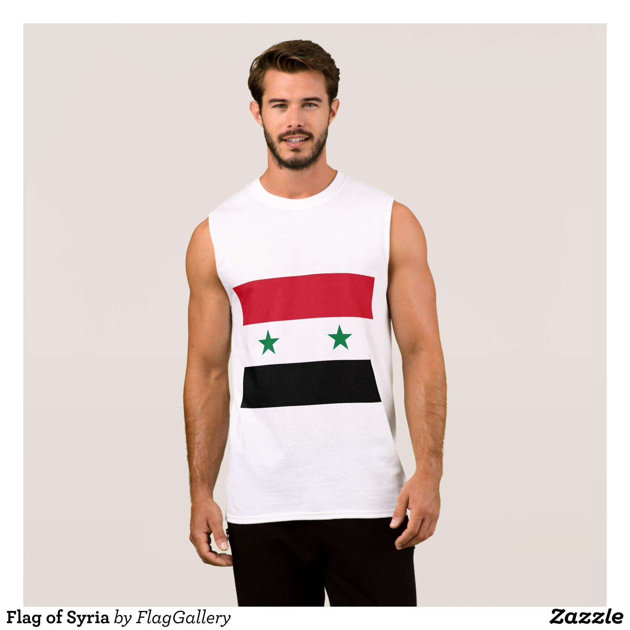 Flag of Syria Sleeveless Shirt | Zazzle.com - #shirt #sleeveless #syria #zazzle - #Iran