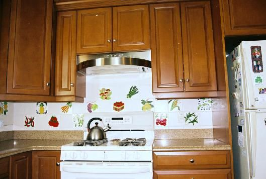 FRUIT TILES And VEGETABLE TILES KITCHEN BACKSPLASH Part 18
