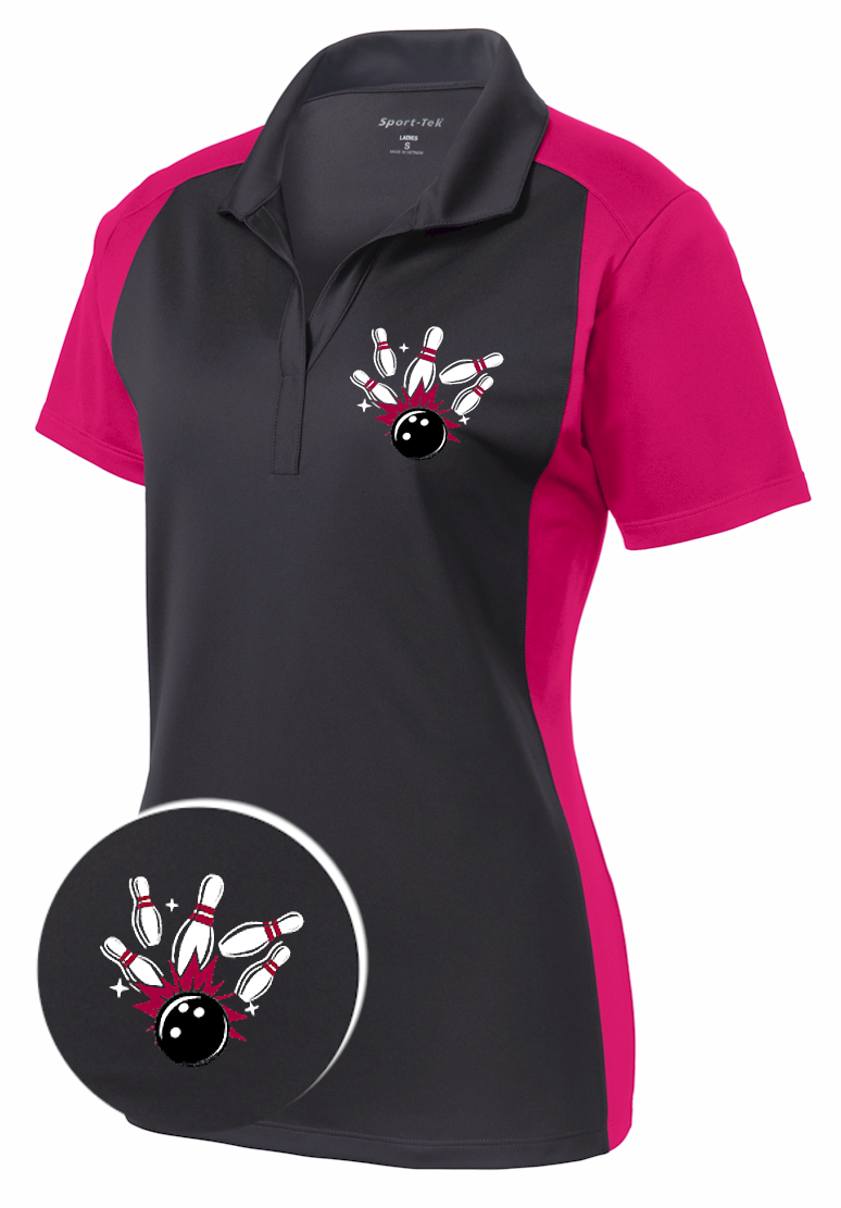 Ladies Fired Up Sport Wick Bowling Shirt Bowling Bowling
