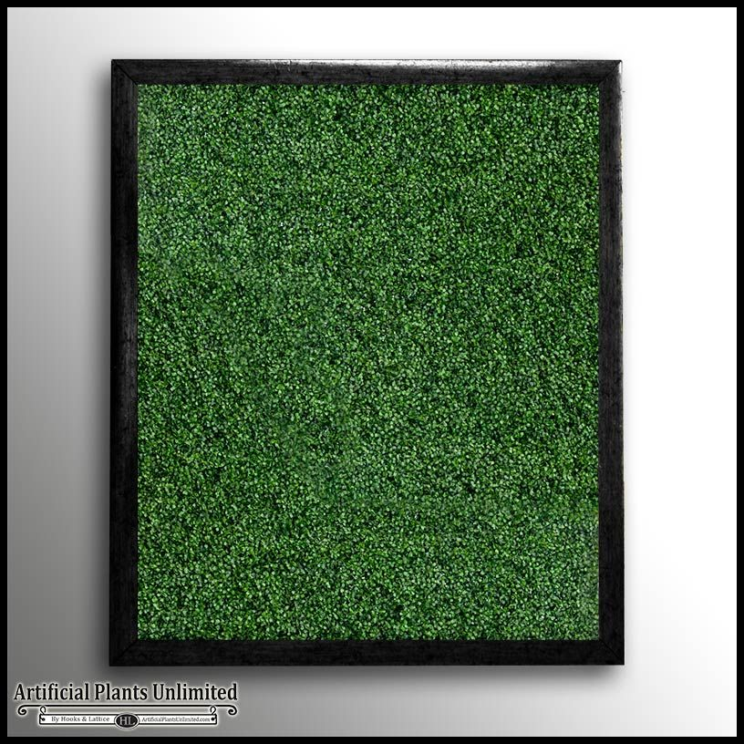 Boxwood Indoor Artificial Living Wall   W/ Frame
