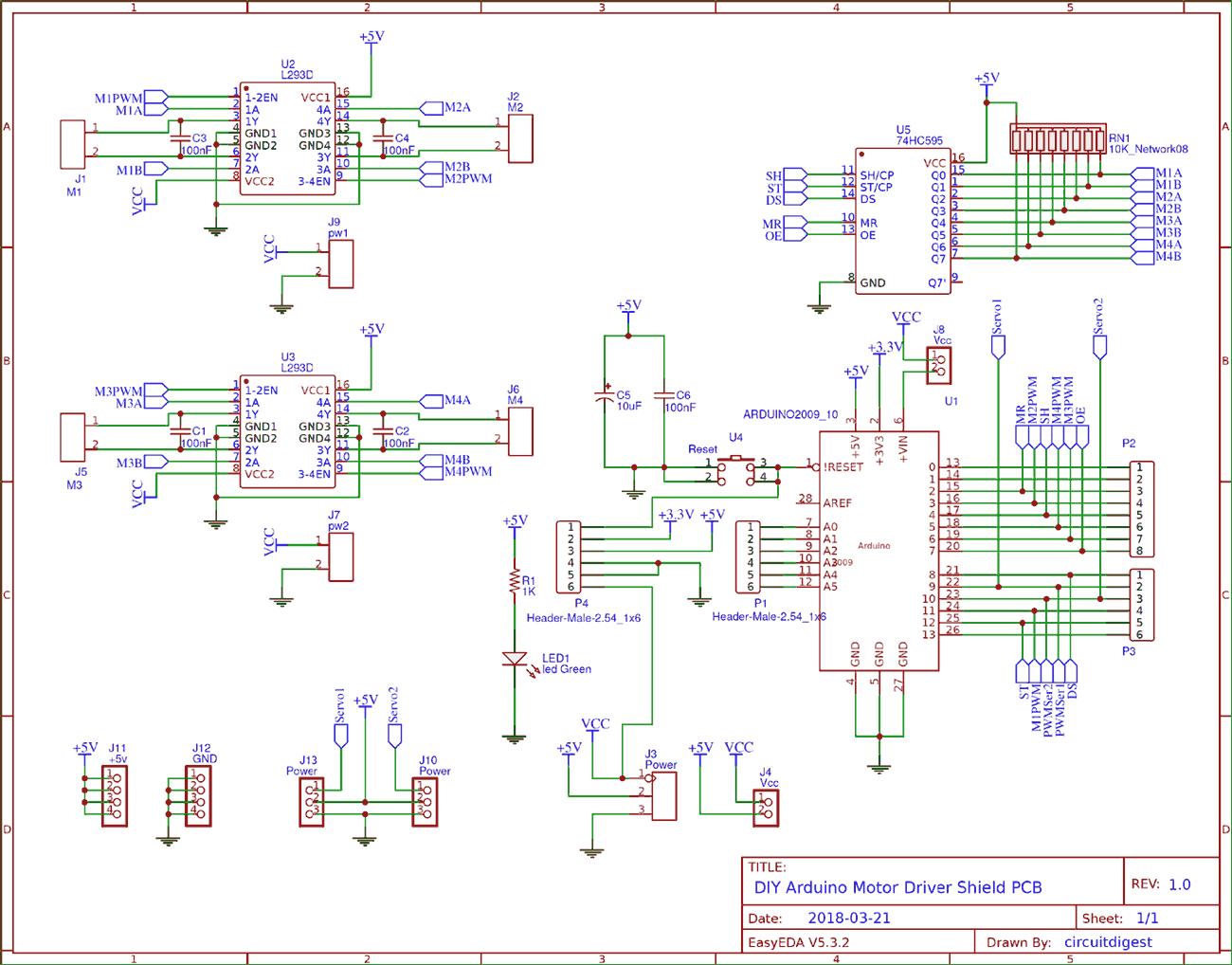 circuit diagram for diy arduino motor driver shield pcb [ 1300 x 1018 Pixel ]
