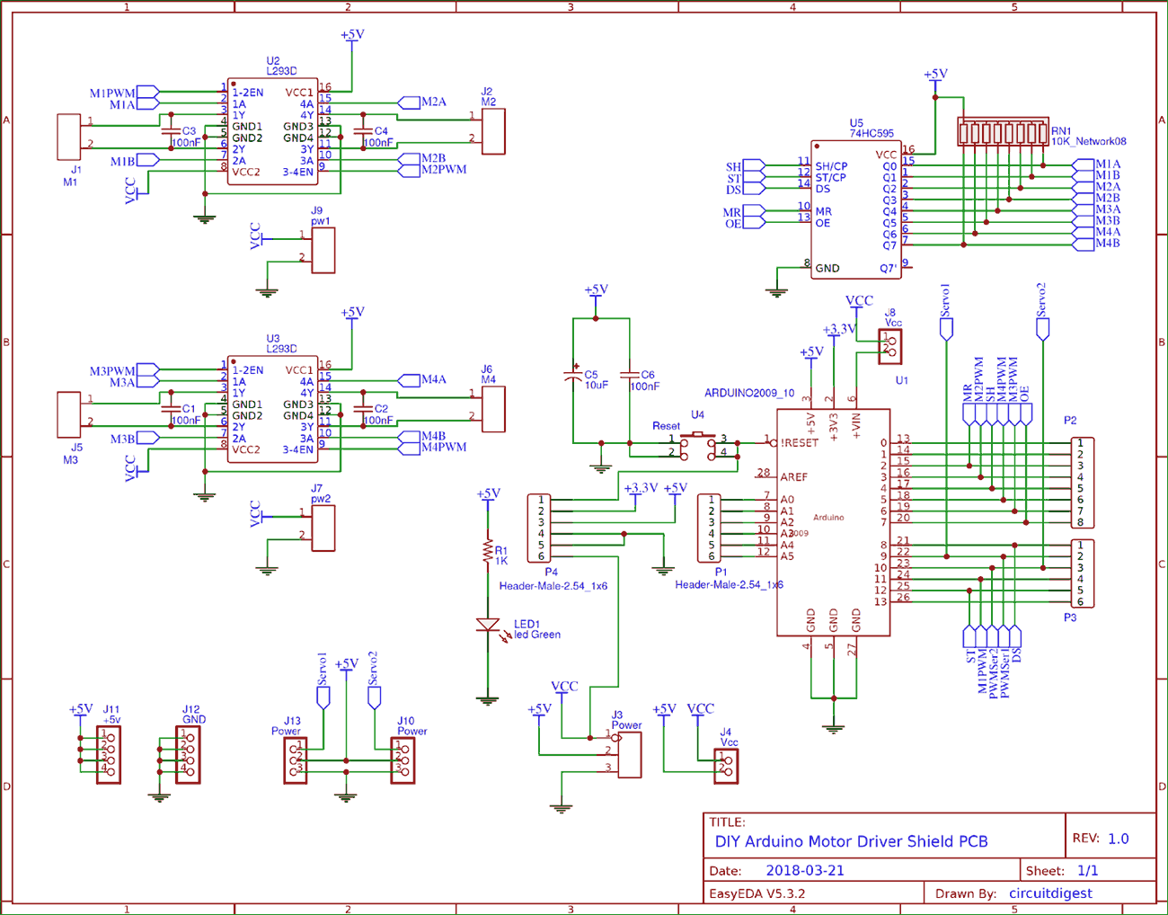 medium resolution of circuit diagram for diy arduino motor driver shield pcb