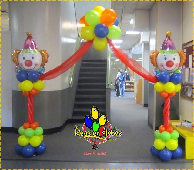 Arco de payasos resultados de yahoo espa a en la Ornamentacion con globos