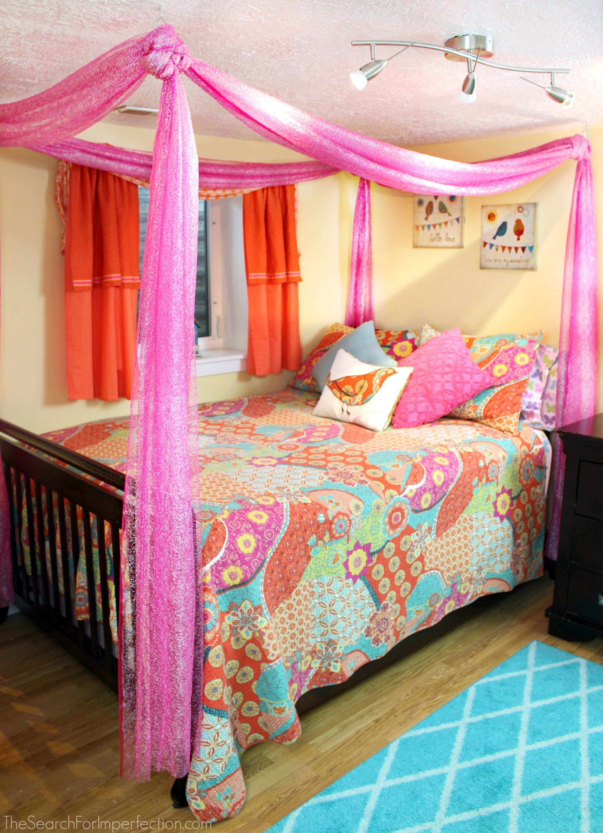 Easy DIY Princess Canopy Bed images