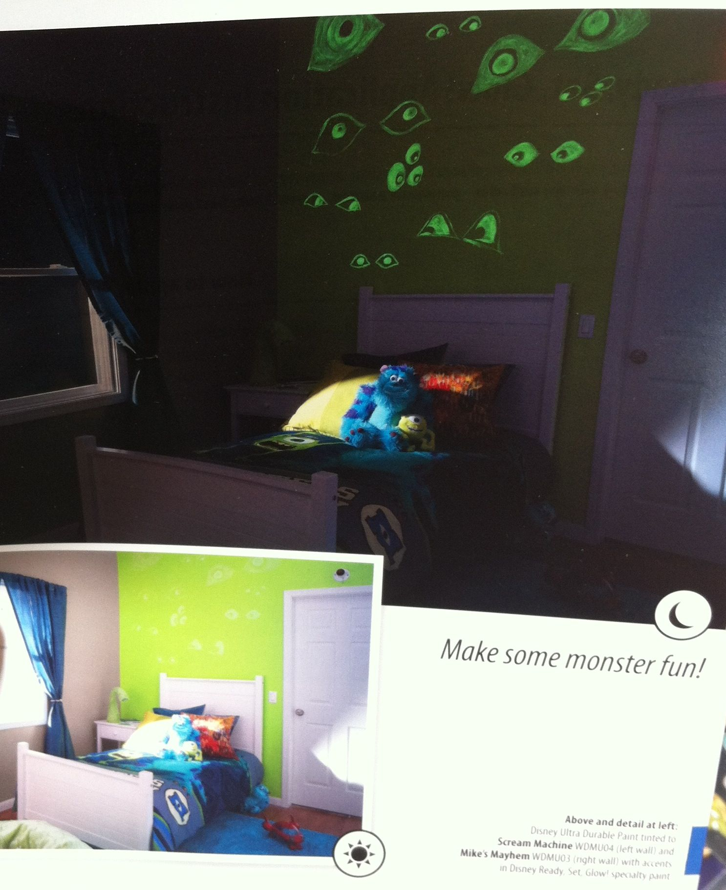 Monsters Inc Room With Glow In The Dark Paint!