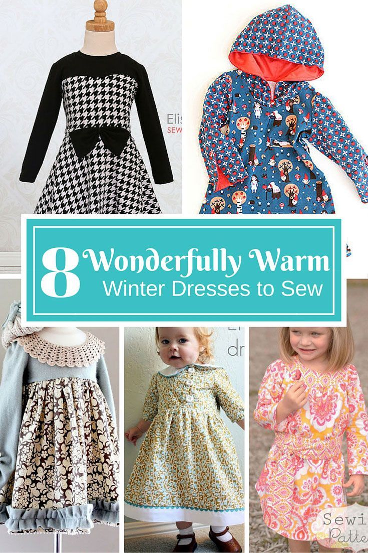 4d737d2d721e7d Little girls need to stay warm in winter, but can't stop wearing their  favourite dresses. Sew up one of these wonderfully warm winter dresses and  stop ...