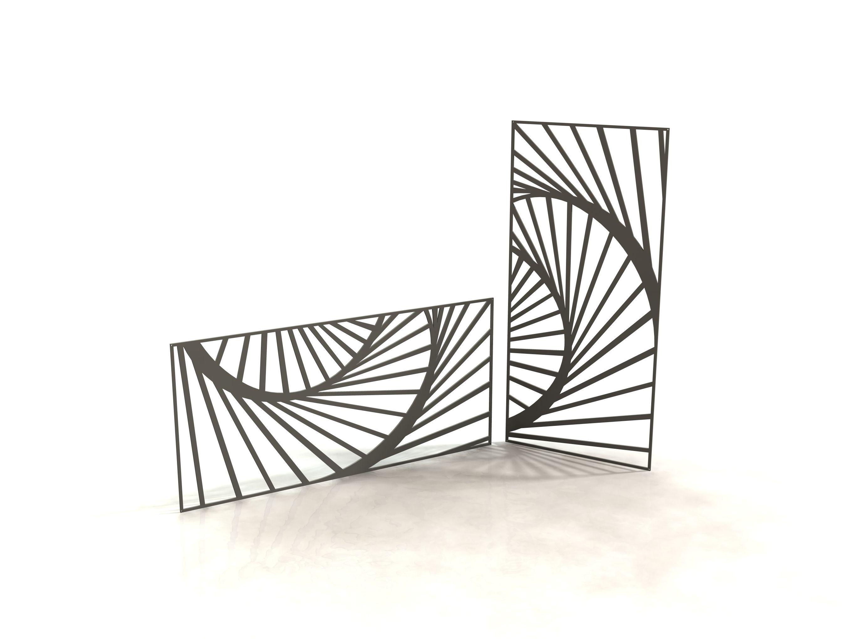 shell panneau design d coupe laser laser cut panels racken racken metal made in france. Black Bedroom Furniture Sets. Home Design Ideas