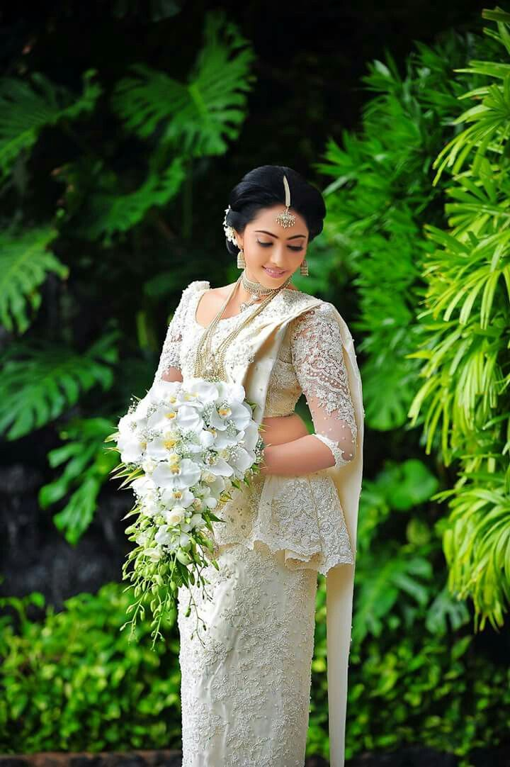 Viindya on her wedding day sri lankan brides and for Sri lankan wedding dress