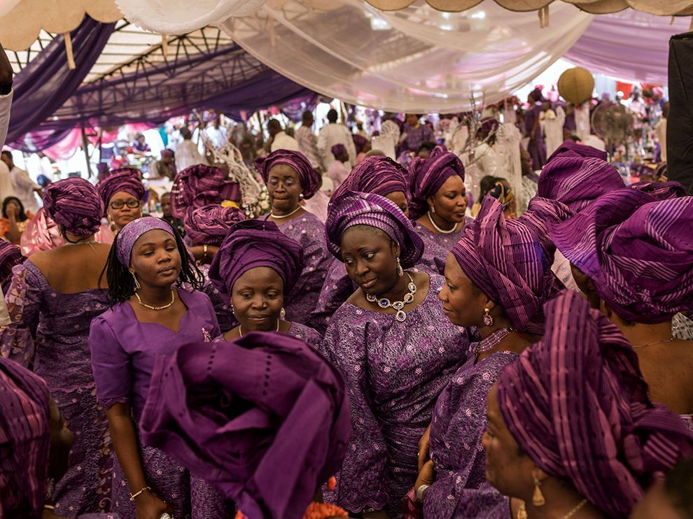 National Geographic Photo Picture Of Guests Adorned In Purple At A Wedding Lagos