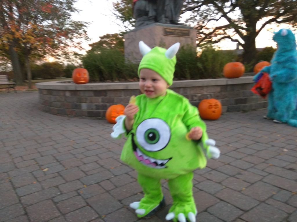 Mike Wazowski Toddler Costume From Monsters Inc Monsters Inc Halloween Costumes Toddler Halloween Costumes Little Boy Halloween Costumes