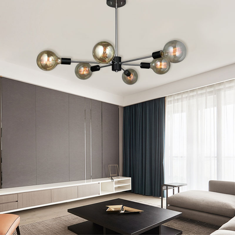 Nordic Modern Chandelier Magic Bean Lamp Creative Globe Light