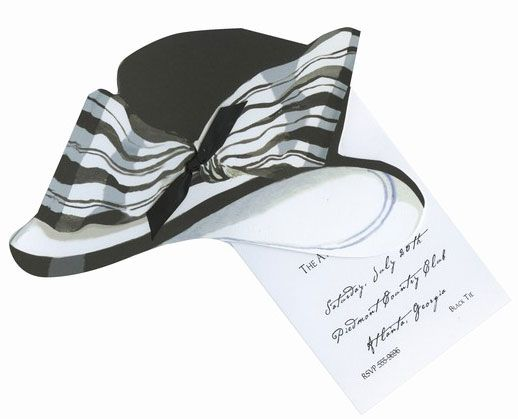 This two piece invitation in the shape of a hat is perfect for – Hat Party Invitation