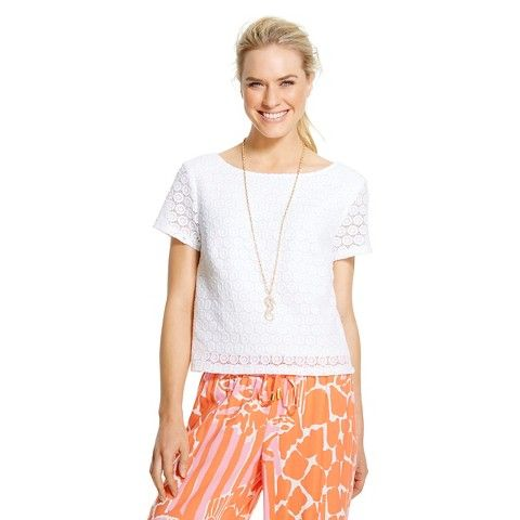 4bfb348da398 Lilly Pulitzer for Target Women s Crochet Crop Top White - Size XXL ...