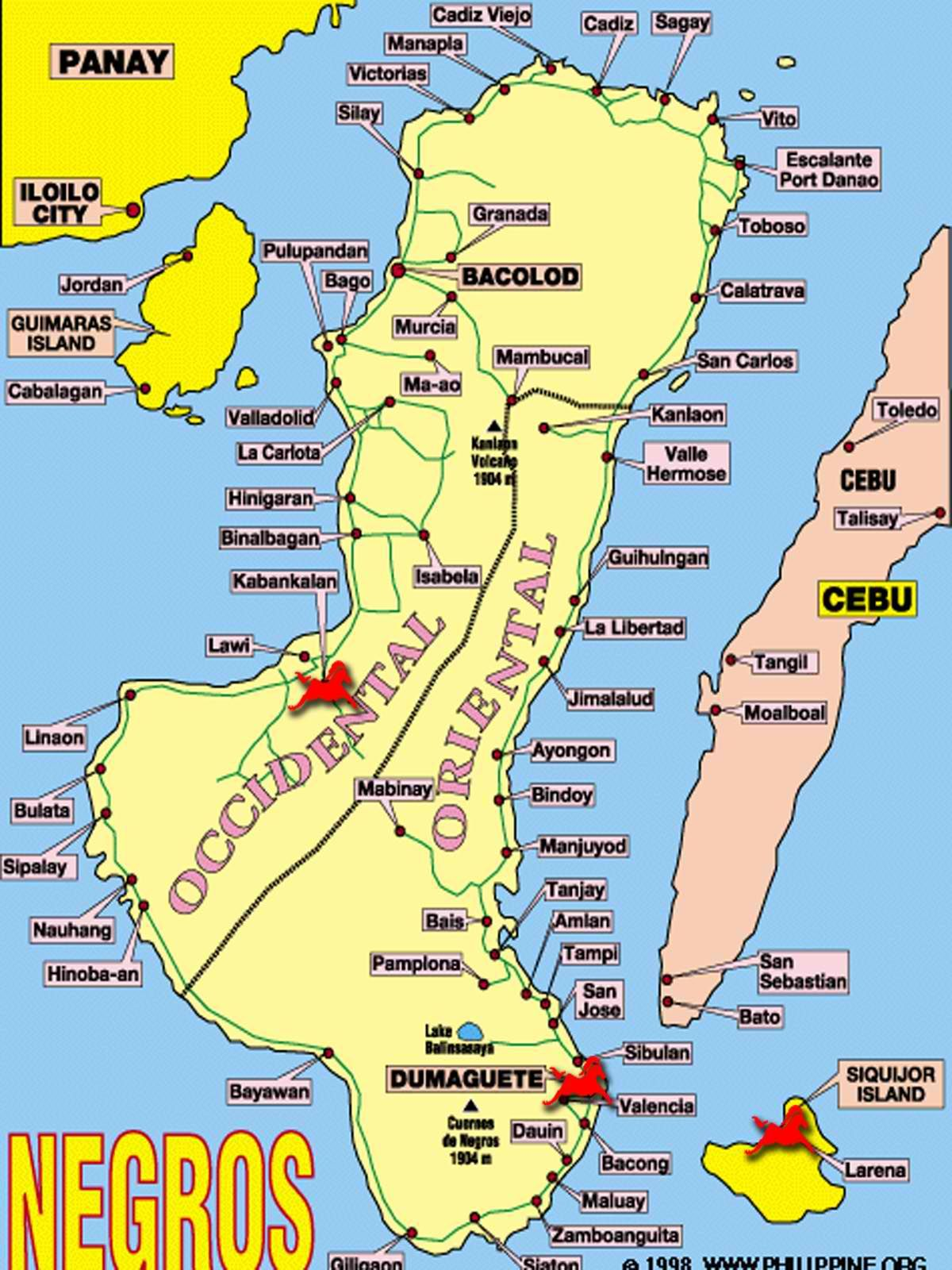 Map of Negros Maps Pinterest Philippines