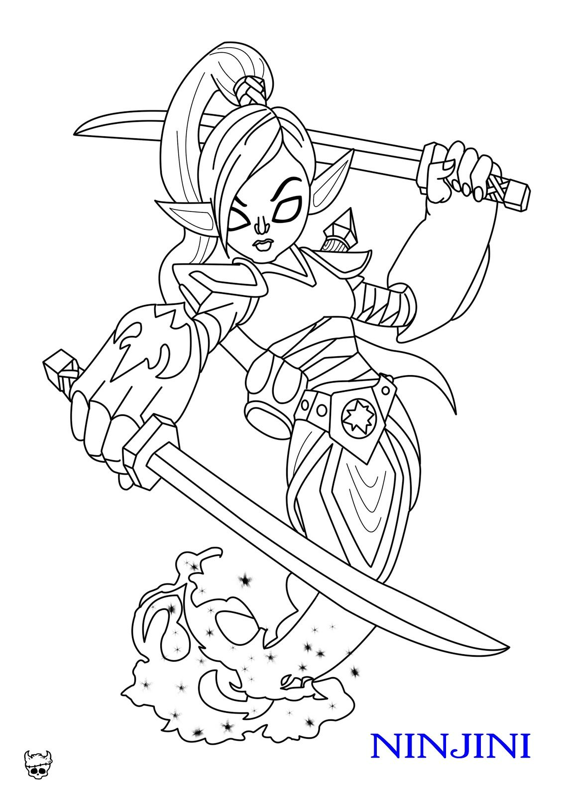 Free coloring pages for skylanders - Skylanders Giants Pages To Coloring Pictures Coloring Pages Sonic X Skylander Ninjini Coloring Pages