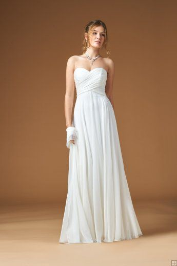 sweetheart chiffon bridal gowns
