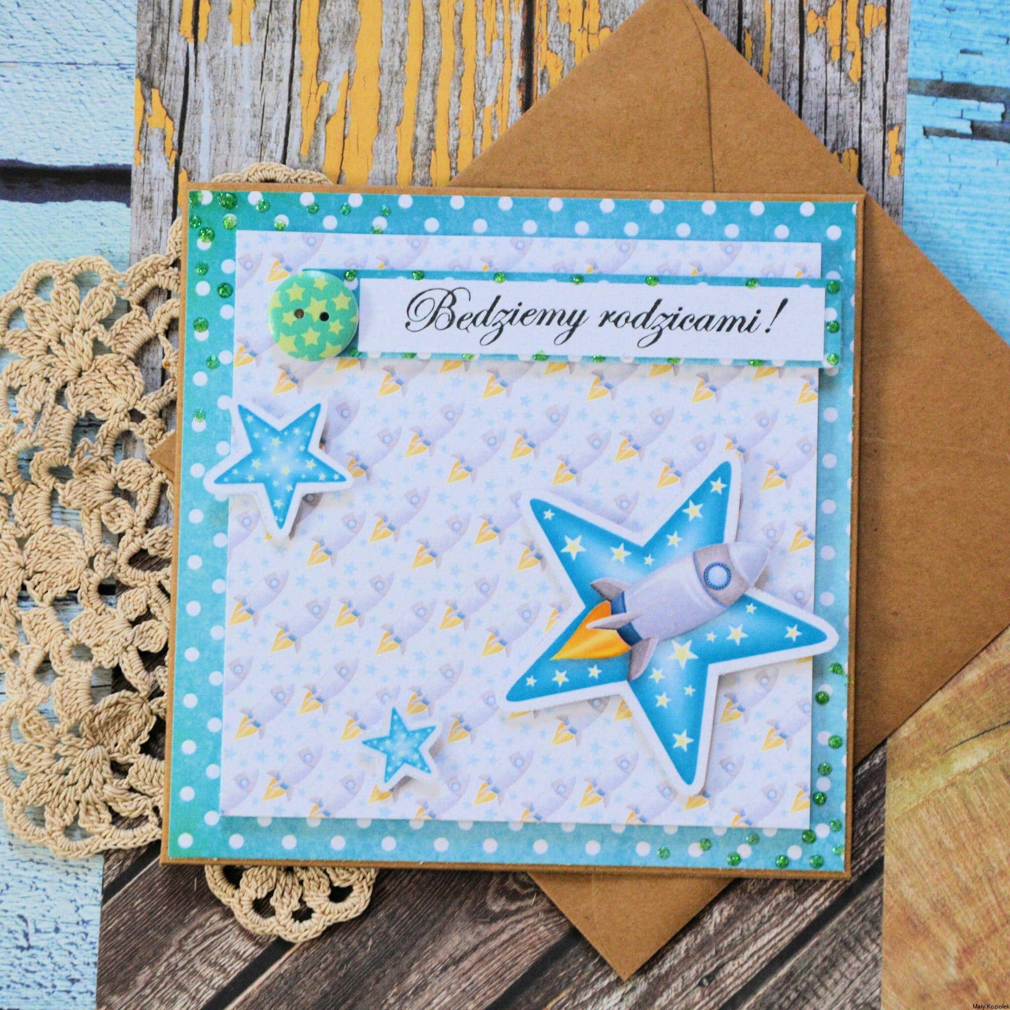 Kartka Bedziemy Rodzicami Scrapbooking Cards Greetings