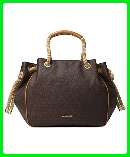 67de4ca70baf75 MICHAEL Michael Kors Dalia Large Shoulder Tote (Brown) - Top handle bags  (*Amazon Partner-Link)
