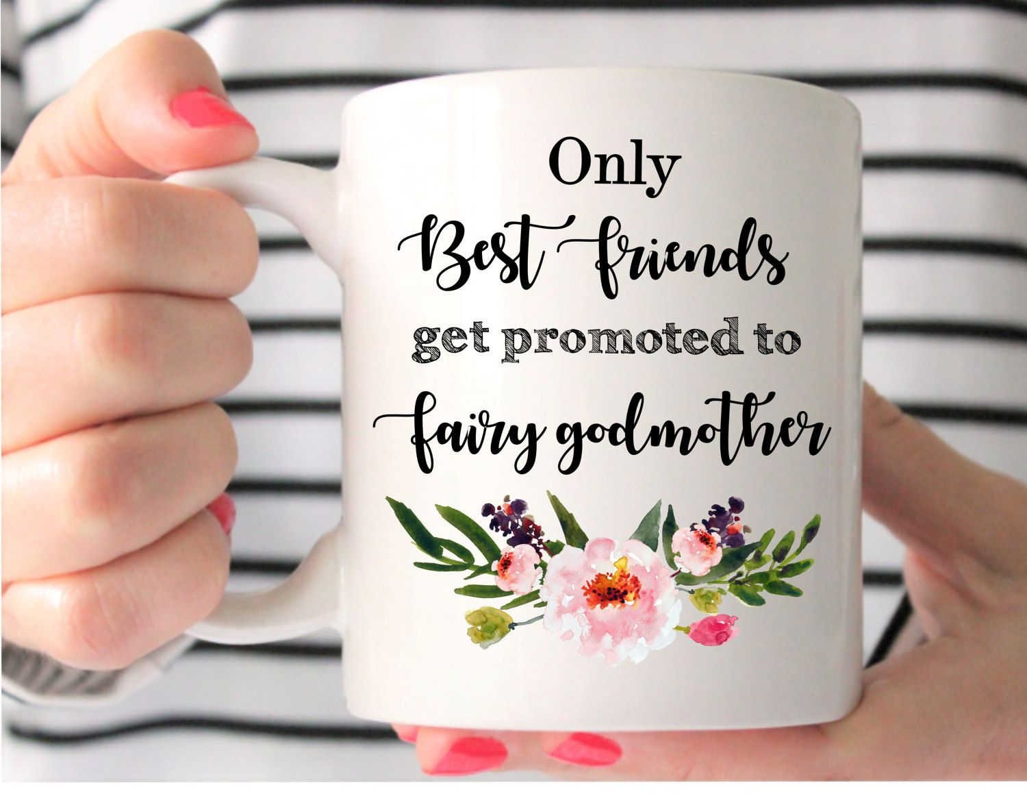 Only Best Friends Get Promoted to Fairy Godmother Godmother Gift Godmother Mug Will You Be My Godmother