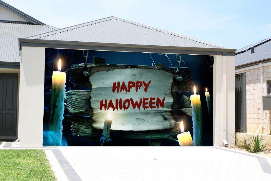 Garage Door Covers details about halloween decor single car garage door covers banner