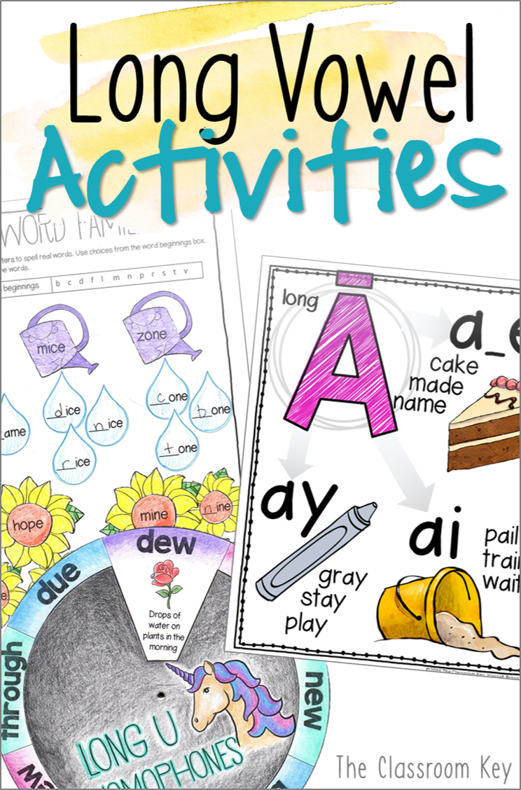 Long Vowel Activities And Worksheets For 2nd Grade Phonics Second
