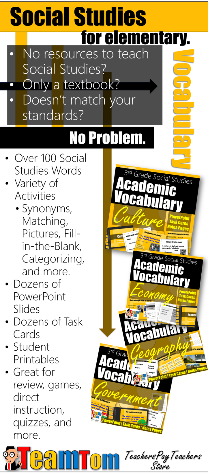 We Have Four $1 Vocabulary Sets For Your 3rd Grade Social Stu S