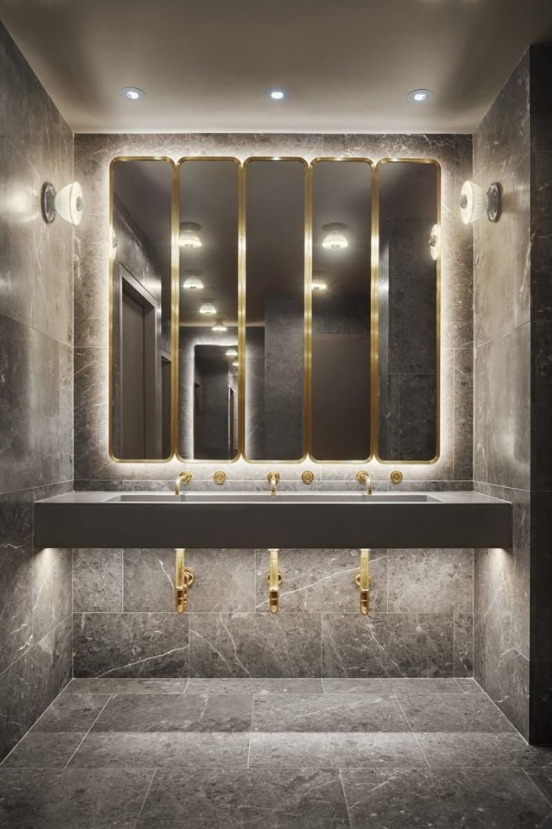 Space Copenhagen A New Path For Bathroom Interior Design In 2020 Modern Bathroom Remodel Unique Bathroom Bathroom Mirror Design