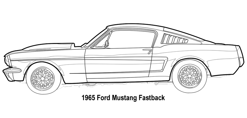 mustang 65 drawing Buscar con Google Mustang fastback
