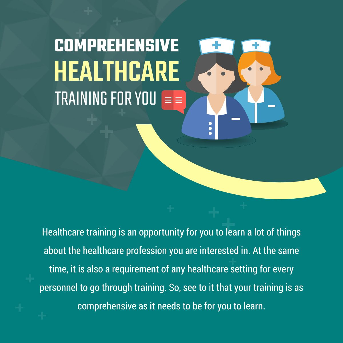 Comprehensive Healthcare Training for You. Visit www