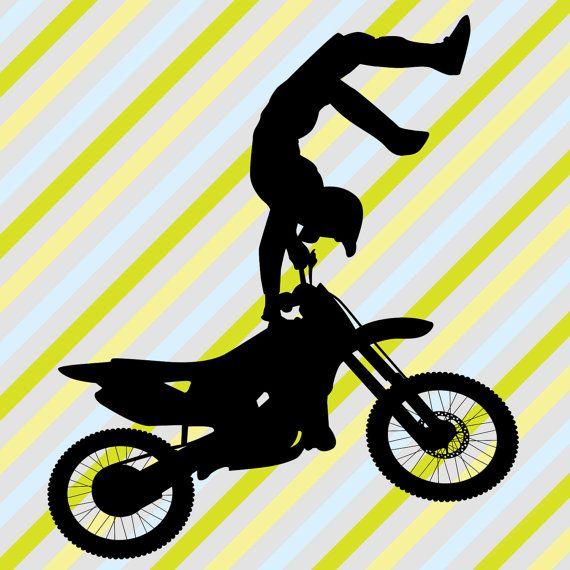 Motocross Wall Sticker, Boys Personalized Nursery Wall Art, Kids ...