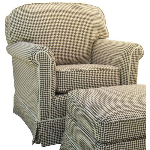 Brown And White Houndstooth Adult Rocker Glider Chair By The Beach