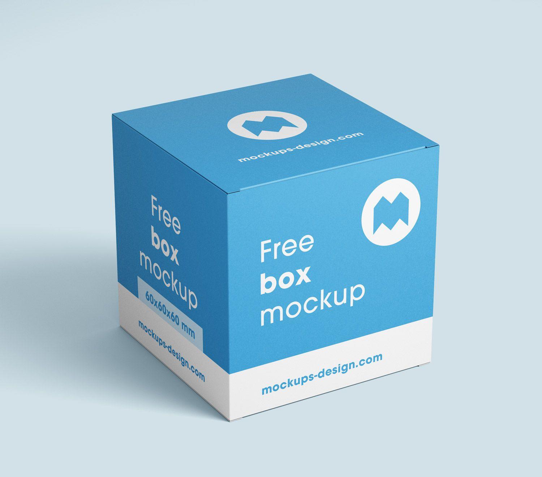 Download Free Box Mockup 80x80x80 Mm Free Mockup Free Boxes Packaging Mockup Free Packaging Mockup