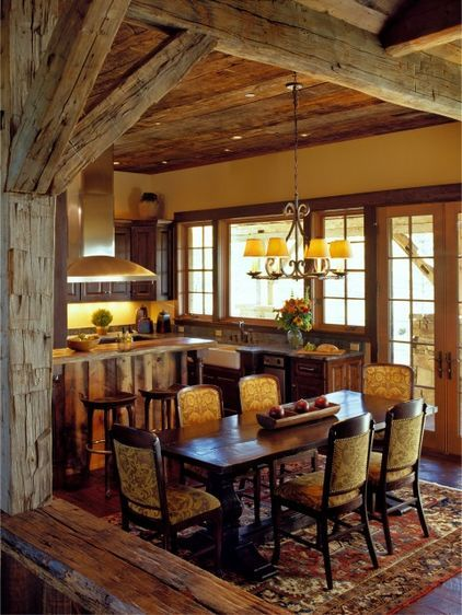 21 amazing rustic living design | traditional dining rooms and