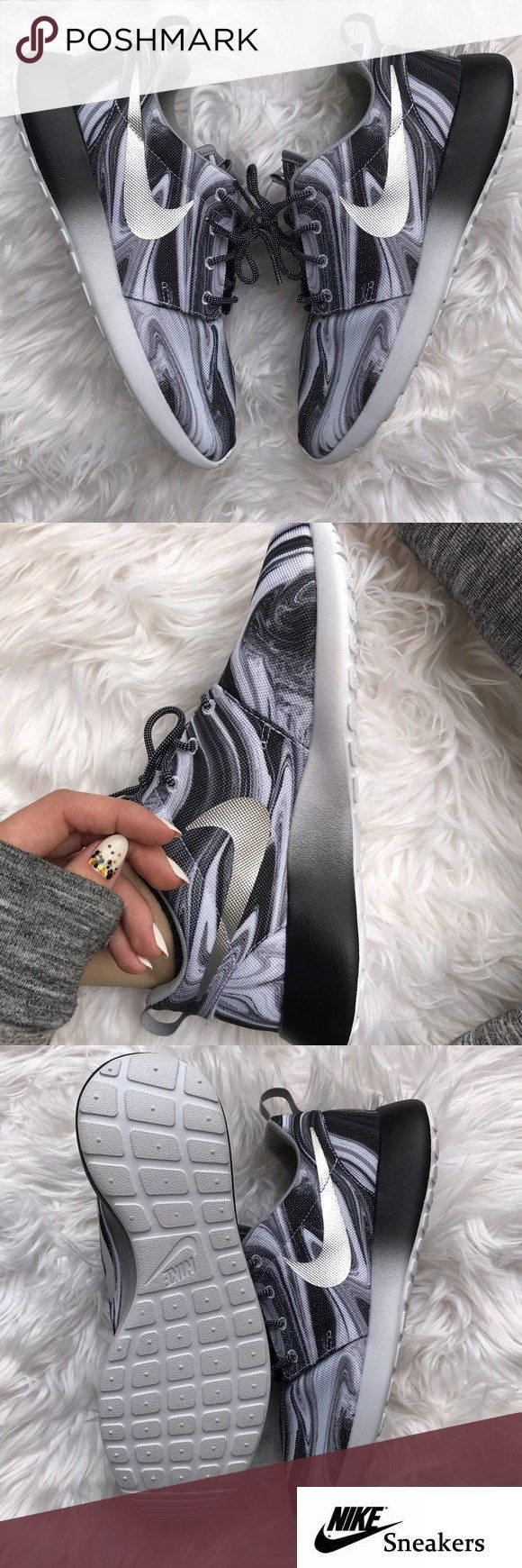brand new 1ad98 07a94 NWT Nike id roshe marble ombré Brand new no box!no trades!price is firm!!custom  made silver swoosh ombré Nike roshe size 7 mens ,womens 8.5 Gear up for the  ...