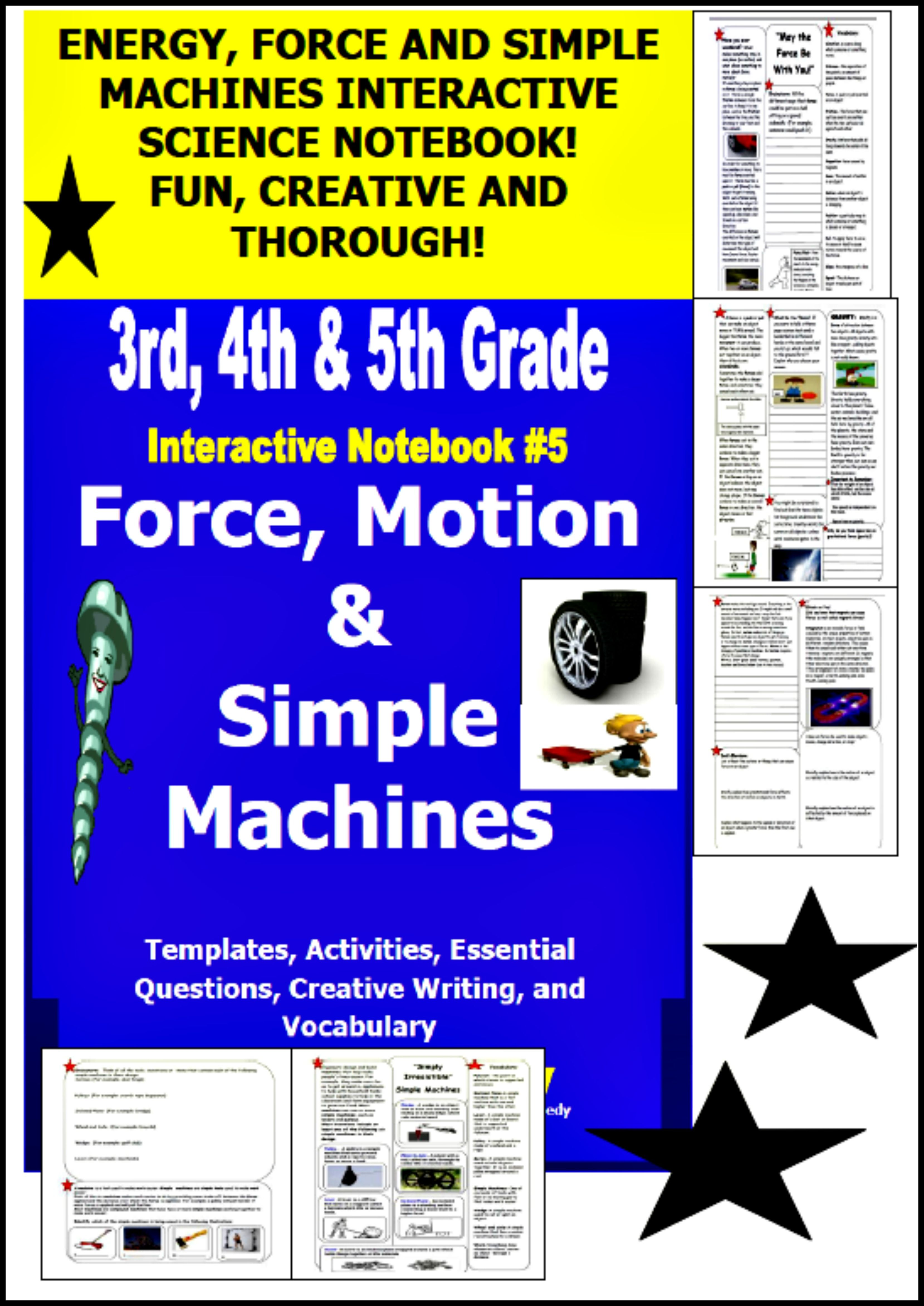 Force And Motion Interactive Notebook Simple Machines