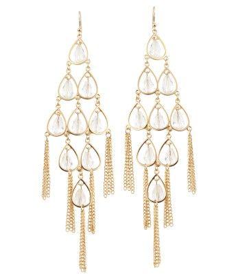 Lipsy Pear Bead Drop Earrings