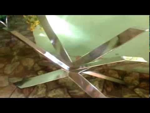 base de mesa italian spider e aço inox