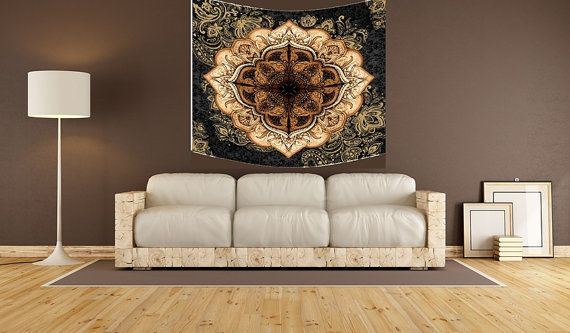 Mandala wall tapestry mandala art wall by Christinedecorshop