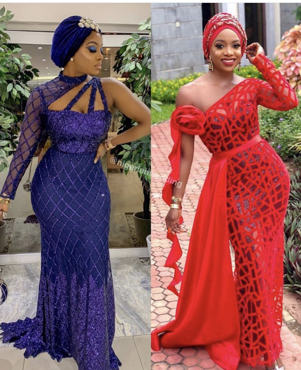 Red And Blue Fabric Aso Ebi Lace Styles African Lace Dresses African Lace Styles